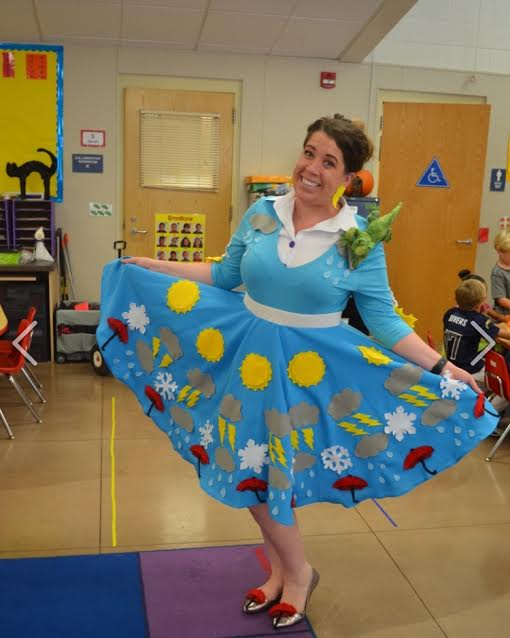 Ms. K as Ms. Frizzle